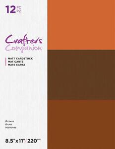 "Crafter's Companion 8.5"" x 11"" Matt Cardstock YOU CHOOSE"