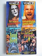 Pro Wrestling VHS Video Lot of 4 WCW NWO Goldberg Sting Hogan Macho Man (PG046)