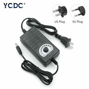 Universal AC/DC Adapter Multi-Voltage Regulated Power Supply 1-24V/24-36V 2A 2m