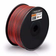 200m (2 Spulen je 100m) Zwillingslitze 2x 1,5mm² Kabel rot/schwarz 2-adrig