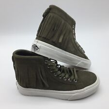 Vans Men's Shoes ''Sk8'Hi Moc--(Suede)--Ivy green/blanc D