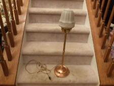 """VINTAGE ART DECO Skyscraper Table Lamp Copper Gold Tone Skyscraper Shade 27"""""""