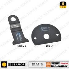 Versa Tool SB-K2 6 PC Oscillating Saw Blade Set for Sonicrafter (SB1B,1I) 3 each