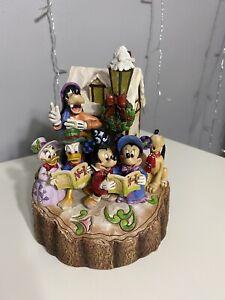 Jim Shore Disney Traditions HOLIDAY HARMONY!   Mickey Donald Pluto Goofy Minnie