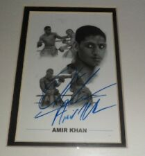 "ORIGINAL Signature AMIR KHAN BOXING Hand Signed Photograph 6"" x 4"" Mounted"