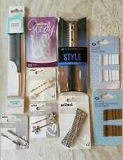 Scunci/Goody, Trevor Sorbie hair accessories bundle, New. Diamanté clips etc