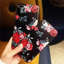 For iPhone X XS Max XR 6 6S 7 8 Plus Floral Pattern Soft TPU Silicone Case Cover