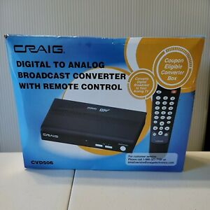Craig CVD506 Digital to Analog Broadcast Converter Remote Control NEW OLD STOCK