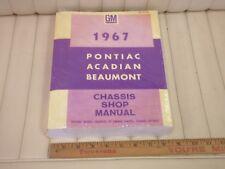 1967 PONTIAC - ACADIAN - BEAUMONT Car Canadian Shop Repair Manual REPRODUCTION