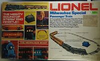 LIONEL MILWAUKEE SPECIAL  LOCOMOTIVE & 4 PASSEMGER ELECTRIC TRAIN SET MIB 6-1387