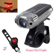 High Quality USB Rechargeable Headlight Helmet lamp Bike Front Light +Taillight