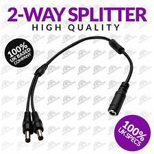 CCTV Power Supply 2 WAY SPLITTER UK 12 VOLT 5 Amp PSU 2-way Fotocamera (UK STOCK)