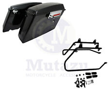 Complete Hard Saddlebags Saddle bags set w Softail Conversion Brackets Harley HD