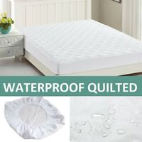 "12"" EXTRA DEEP FITTED WATERPROOF QUILTED MATTRESS PROTECTOR SMALL DOUBLE KING"