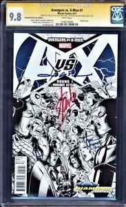 AVENGERS VS X-MEN # 1 CGC 9.8 SS  PERFECT STAN LEE SIGNATURE 4X MULTIPLE COPIES!