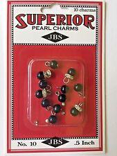Jenni Bowlin - 10 Pearl and Rhinestone Charms PC595 - Black - NEW