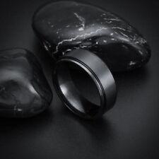 BLACK SILVER TITANIUM Men WOMEN Band Ring Size 10 VALENTINES GIFT