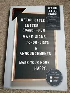 Copper Rectangular Framed Retro Letter Board Personalised Memo Board