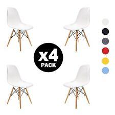 4X sedie sala da pranzo Eiffel Retro DSW Style Nordic Design nero / bianco