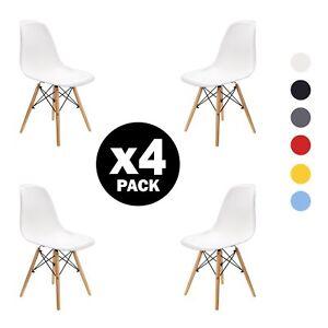 4X sedie sala da pranzo  Retro  Style Nordic Design nero / bianco