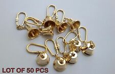 Antique Style Brass Bell Key Chain Key Ring Nautical Lot Of 100 Pcs A1