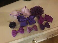 Purple Hair Clip Bundle x8