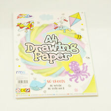 80 Sheets of Drawing Paper, 40 White Sheets 40 Coloured Sheets Kids Craft Colour