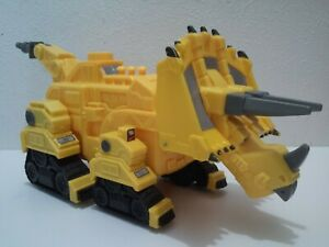 "Dinotrux 12"" Talking Dozer Yellow Triceratops Construction Dinosaur WORKS!!!"