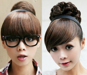 Girl's One Piece Hair Extensions Bangs/Fringes with Hair Bands/Headband