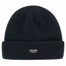 Black Thinsulate Kids Beanie Hat Thermal Unisex Winter Warm Cap Ski Hats Fleece