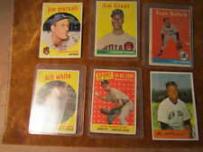 VINTAGE BASEBALL  SIX PACK MIXED EARLY TRADING CARDS