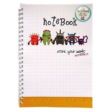 A4 Hardcover Wire Notebook - Rascals Design – 80 sheets=160 Pages – Ruled - New