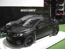FORD  FOCUS RS500 2010 Matt Black au 1/18 MINICHAMPS 100080000 voiture miniature
