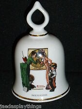 Danbury Mint Bell Norman Rockwell Back To School Vtg 1979
