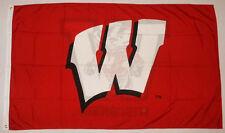 University of Wisconsin  Badgers 3' x 5' NCAA College flag banner, New