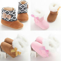 Infants Baby Girls Soft Shoes Newborn Kids Winter Warm Sole Snow Boots ботинки