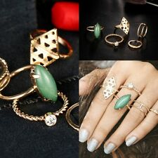 Fashion Punk Gold Stack Above Knuckle Ring Band Midi Rings Set Gift Retro STYLE