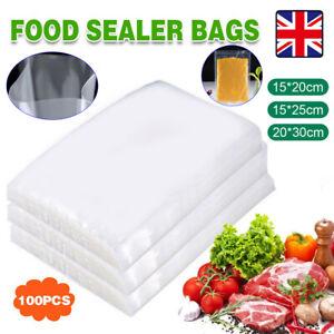 Kitchen 100x Vacuum Food Sealer Bags Sealer Dry Wet Pack Machine Vacum Food Bags