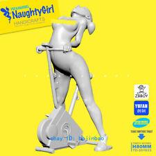 80mm Naughty Girl Nude Sports Woman Unpainted Model Kits YUFAN Model Garage Kit