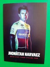 CYCLISME carte cycliste JHONATAN NARVAEZ équipe QUICK STEP FLOORS 2018