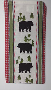 Cabin/Lodge BEARS Waffle Weave Cotton Towel