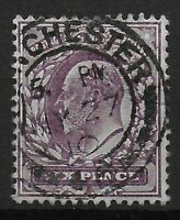 SG248. 6d.Dull Purple (Chalky). Fine Used. Very Good Condition.Cat.£20. Ref:0516
