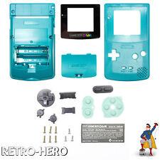 Gameboy Color Gehäuse Display Game Boy Batterie Deckel Tasten Case Shell Türkis