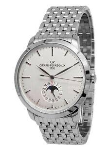 Girard Perregaux 1966 Moonphase - Stainless Steel - White Dial - 49545-11-131-11