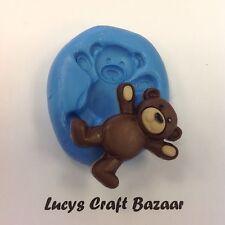 Silicona Molde Teddy Bears Picnic 5 sugarpaste Sculpey Jabón Fimo Cupcake Topper
