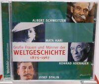 Große Frauen und Männer der Weltgeschichte 1875 - 1967 + CD + Hörbuch