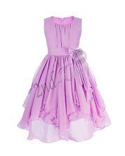 Kids Pageant Birthday Flower Girl Dress Wedding Bridesmaid Gown Formal Dresses