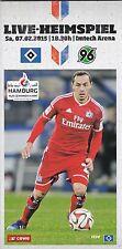 HSV-Arenamagazin Nr.10 zum Heimspiel gegen Hannover 96 am 7.2.2015