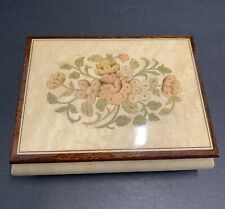 Vintage Reuge Wood Music Jewelry - Box Made in Italy - Swiss Musical Movement