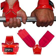1 Paar Zughilfen Klimmzughaken Latzughilfen rot mit rot lackierten Haken NEU